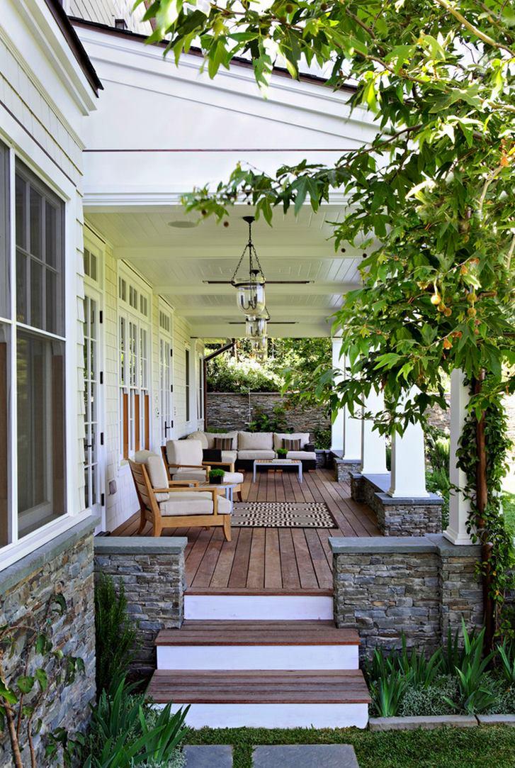 Comfy outdoor porch living area
