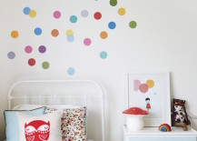 Confetti-style polka dot wall decals
