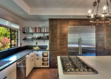 Contemporary kitchen with a hint of woodsy, rustic charm