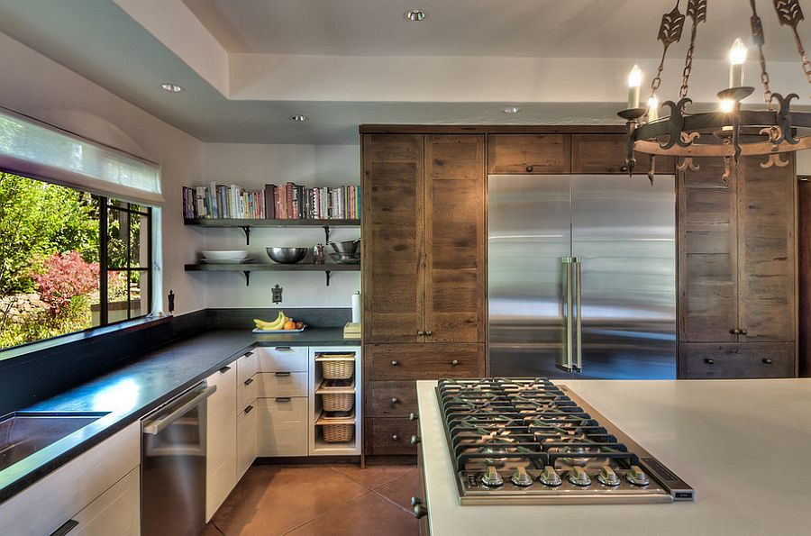 Contemporary kitchen with a hint of woodsy, rustic charm [Design: Leo Claudio Cabinets]