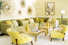 Contemporary living room with a fusion of Midcentury and modern touches  50 Fabulous Coffee Tables that Usher in a Golden Glint Contemporary living room with a fusion of Midcentury and modern touches 270x180