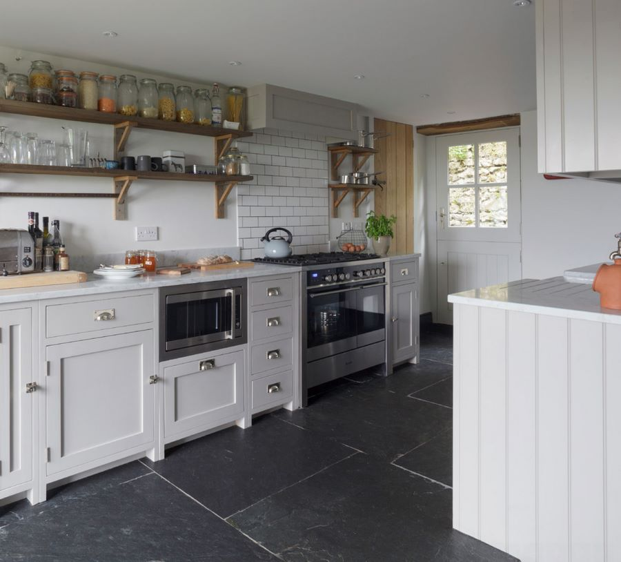Make a statement with large floor tiles for Country cottage floor tiles