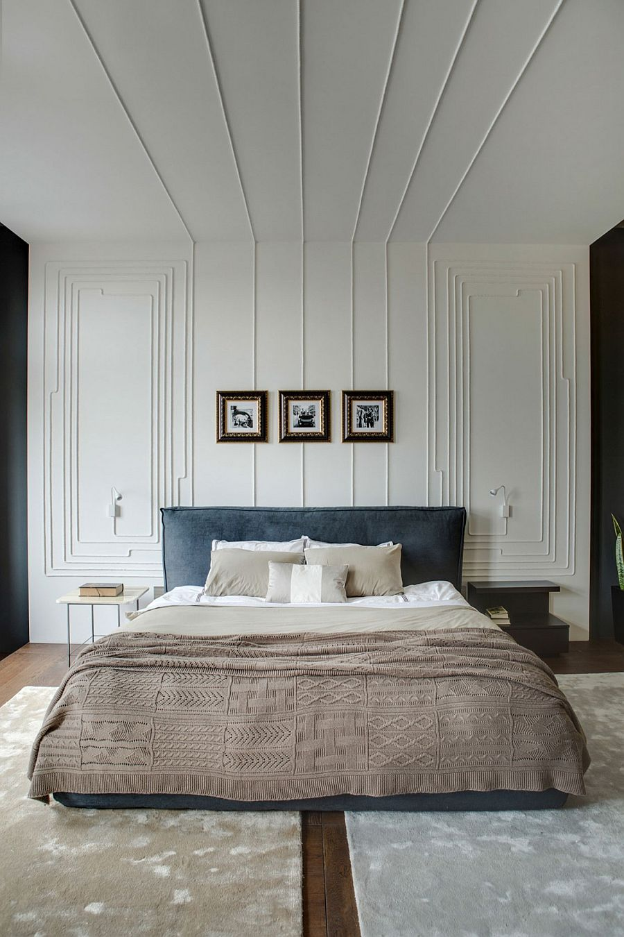 Cozy bedroom design with a minimalistic contemporary touch