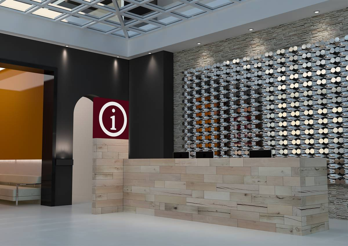 Craftwand reception desk design