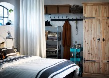 Create-a-rustic-chic-look-in-the-bedroom-with-snazzy-colorful-RASKOG-utility-cart-217x155