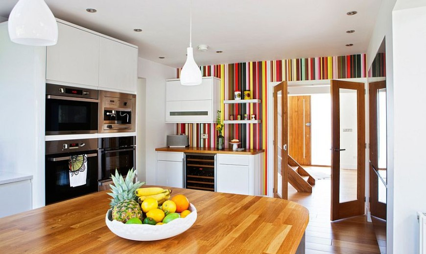 Hot Trend 20 Tasteful Ways To Add Stripes Your Kitchen