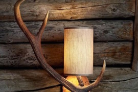 Creative antler light fixture