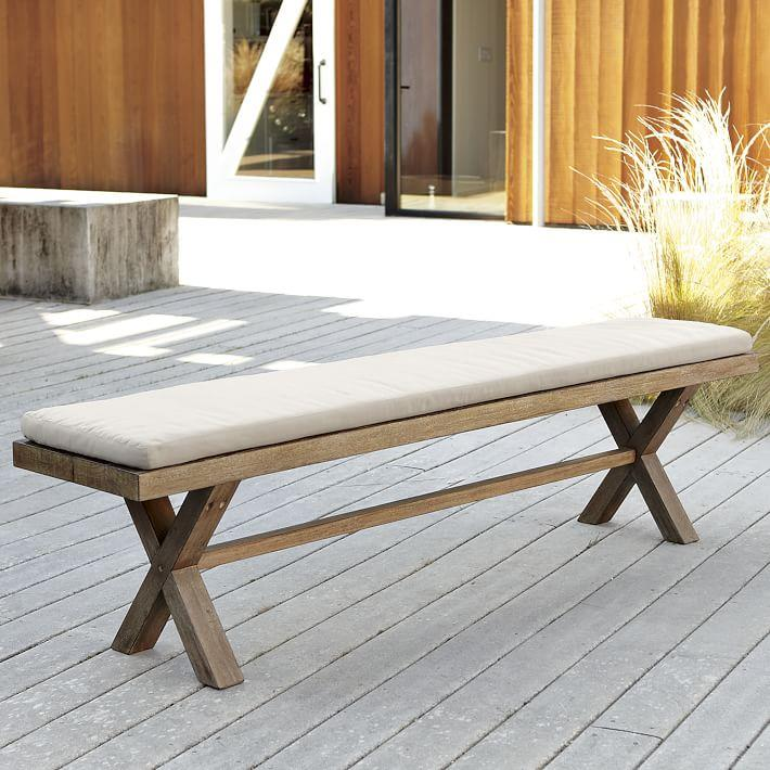 Cushioned bench from West Elm