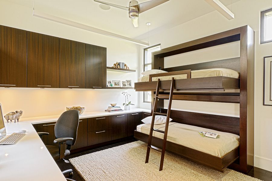 Custom-built bunk beds for the home office [Design: Caden Design Group]