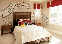 Custom-painted-Disney-film-strip-on-the-bedroom-walls-217x155