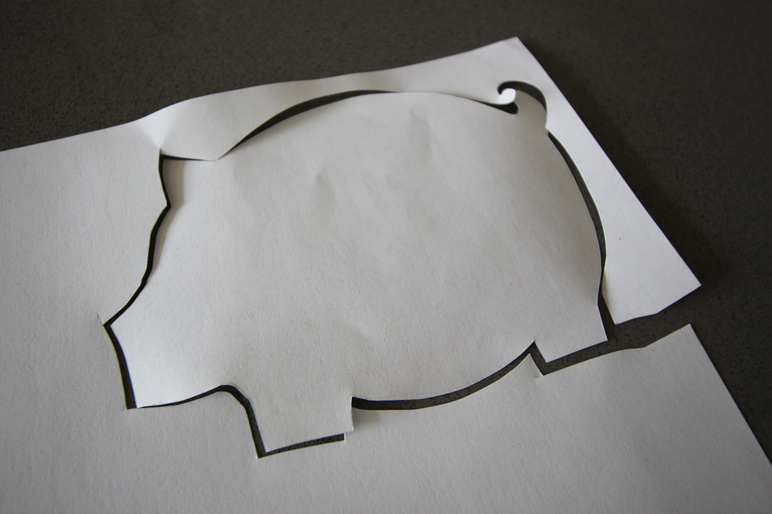 DIY Pig Cork Coasters Pig Shape Cutout