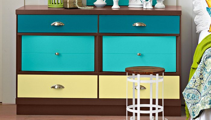 DIY painted dresser from Lowe's
