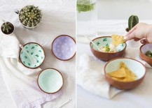 DIY patterned bowls from Sugar and Cloth