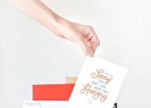 DIY taco letter holder from Studio DIY