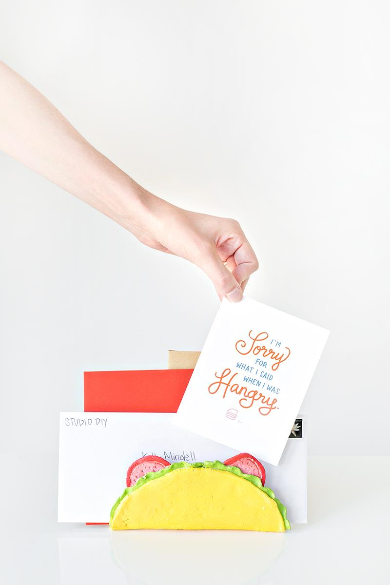 DIY taco letter holder from Studio DIY