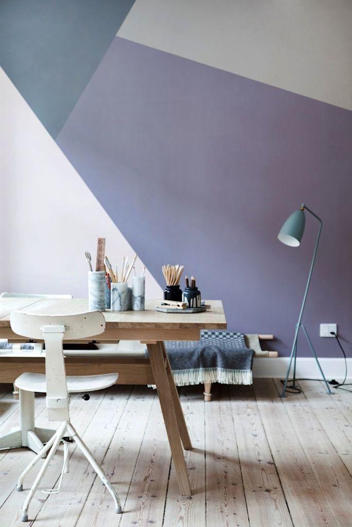 Dark and light geometric paint shades