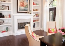 Decorate the space around the fireplace in style [Design: P. Scinta Designs]