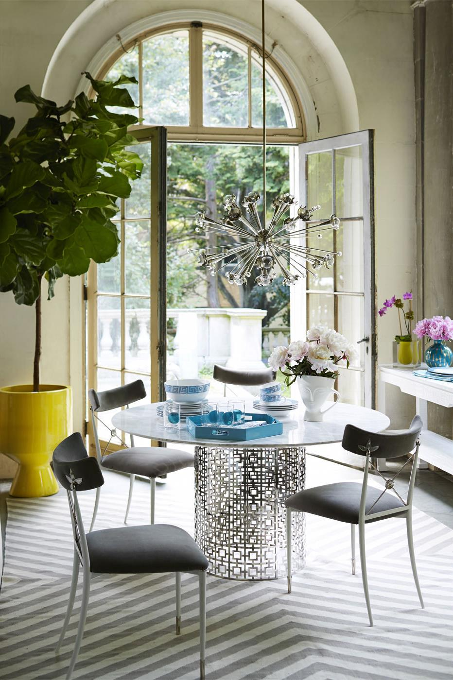 Dining room featuring items from Jonathan Adler
