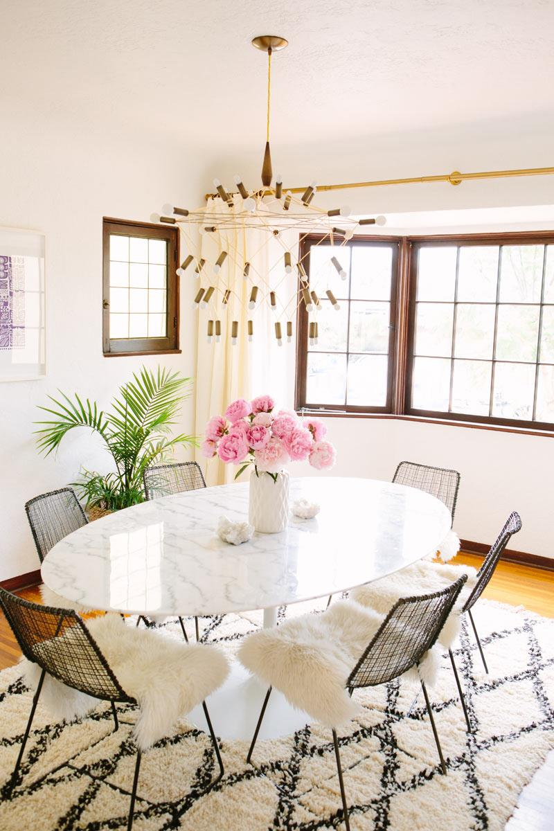 Dining room of A House in the Hills blogger Sarah Yates