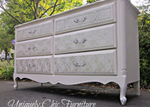 Dresser with lace pattern