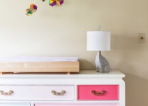 Dresser with painted drawers in a childs bedroom 217x155 Color Your World with Painted Furniture