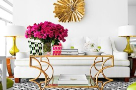 Eccentric gold coffee table with twists and turns [Design: Jan Showers]  50 Fabulous Coffee Tables that Usher in a Golden Glint Eccentric gold coffee table with twists and turns 270x180