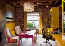 Eclectic home office with plenty of color [Design: Artistic Designs for Living]