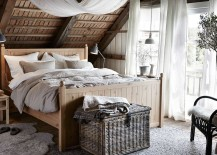 Enchanting bedroom with natural textures and hues
