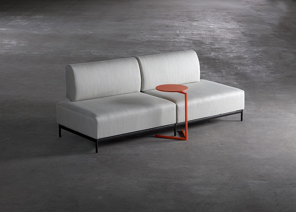 Ergonomic Platform sofa and table design