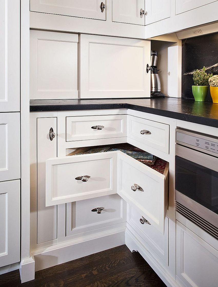 Expand your kitchen storage with stylish corner drawers [Design: The Woodshop of Avon]