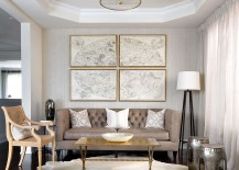 Exquisite gold coffee table for the contemporary living room from Cocoon Furnishings [Design: Toronto Interior Design Group - Yanic Simard]