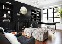 Exquisite use of black in the home office [Design: Better Interior Design Firm]