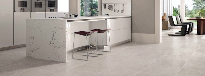 Large tiles for kitchen floor