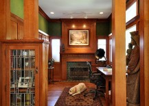 Fabulous craftsman style home office brings back a bygone era [Design: Brooke B. Sammons]