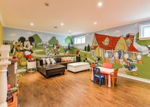 Fabulous mural of Mickey and friends in the playroom