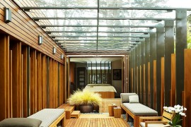 Fabulous sunroom plays off the structure of the house [Design: The American Institute of Architects]  50 Bright and Beautiful Contemporary Sunrooms Fabulous sunroom plays off the structure of the house 270x180