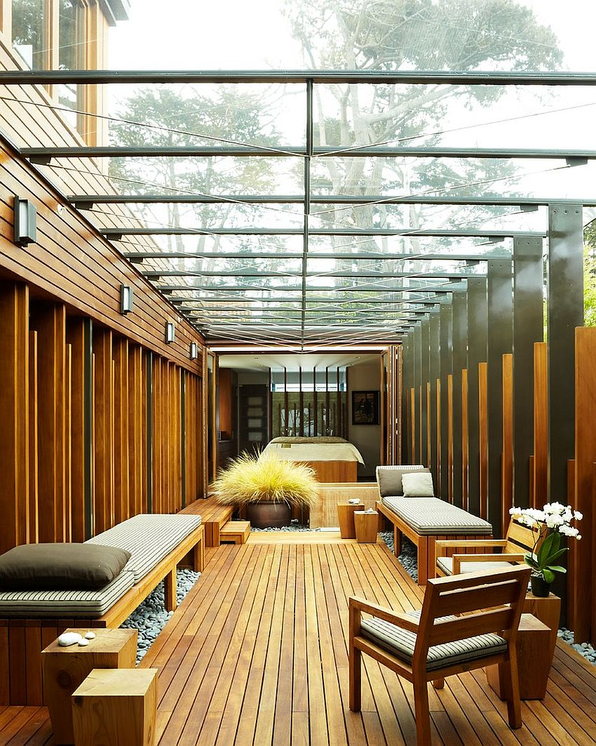 Fabulous sunroom plays off the structure of the house [Design: The American Institute of Architects]