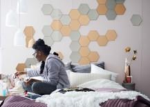 Feminine-bedroom-with-pretty-pendants-and-geometric-wall-motif-217x155