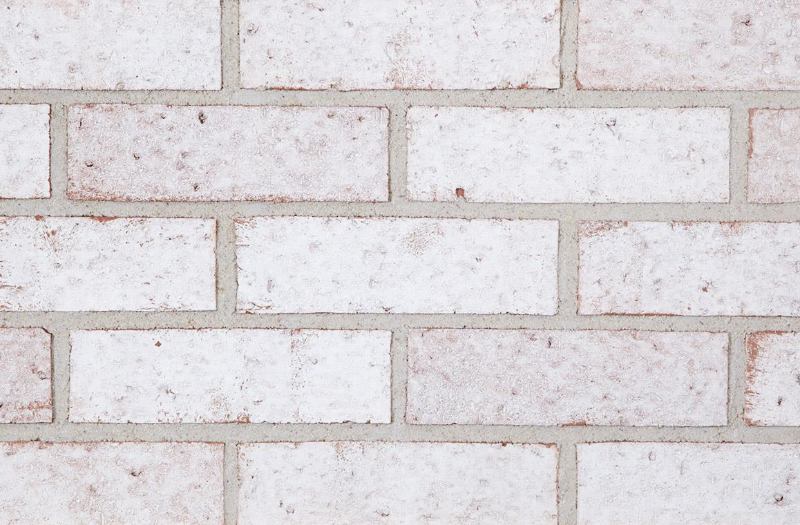 Frosted white bricks from The Belden Brick Company