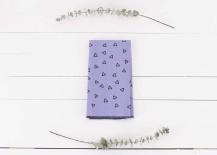 Geo purple napkins by Loft Studio