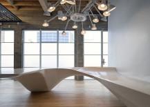 Giant Pixel reception desk
