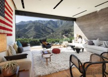 Giant US flag adds color to the living room with spectacular mountain view 217x155 Serene Mountaintop Escape Unveils Birds Eye View of Santa Barbara Coastline