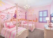 Glamorous girls' bedroom inspired by Disney's Rapunzel