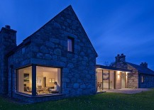 Glass cut outs and windows bring a surreal atmosphere to the cottage home 217x155 Revitalized Cottage in Stone and Wood Captures the Aura of Scottish Highlands