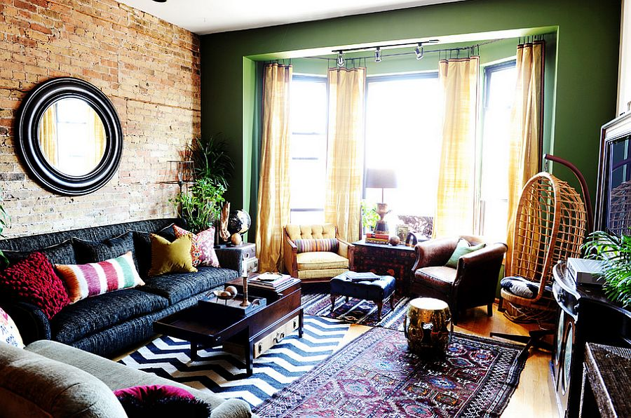 50 eclectic living rooms for a delightfully creative home for Eclectic hotels
