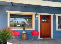 Gorgeous blue shapes the exterior of the renovated Hollywood Craftsman bungalow 217x155 1918 Hollywood Craftsman Bungalow Gets a Curated, Eco Friendly Makeover