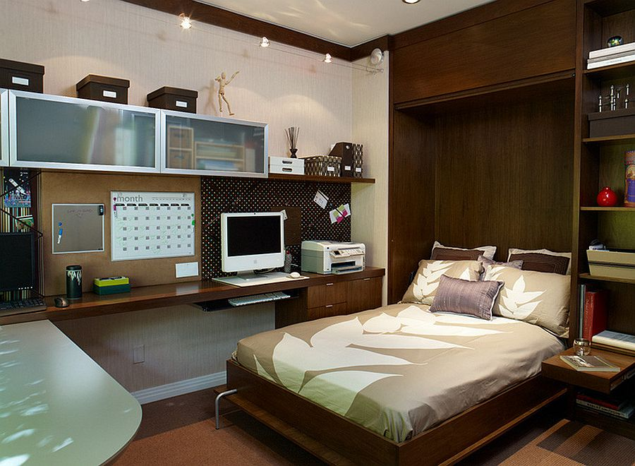 Strange 25 Versatile Home Offices That Double As Gorgeous Guest Rooms Largest Home Design Picture Inspirations Pitcheantrous