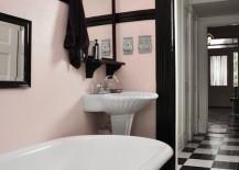 Gorgeous-light-pink-and-black-retro-bathroom-217x155