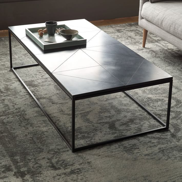 Stone coffee tables with modern style for Stone topped coffee tables