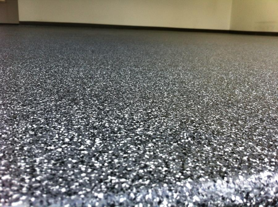 Grey Epoxy Garage Flooring